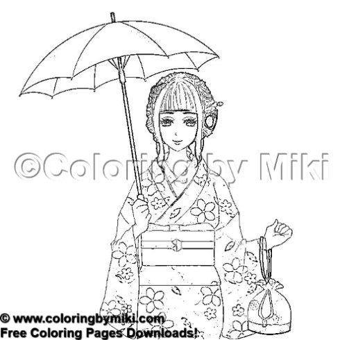 Kimono Girl Coloring Page 2038 Coloring By Miki Coloring ダウンロード 白黒 Blackandwhite Coloringforadults ぬりえ 大人の塗り絵 おとなのぬりえ 塗り絵 Colo ゼンタングル 塗り絵 コロリアージュ