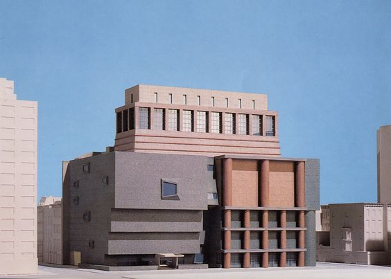Graves' third scheme for the Whitney Museum in New York (1988).