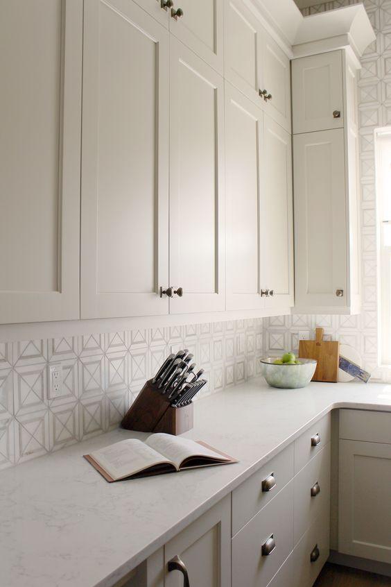 Cabinet Color Is Benjamin Moore Edgecomb Gray Painted Kitchen Cabinets Colors Kitchen Cabinet Colors Grey Kitchen Cabinets