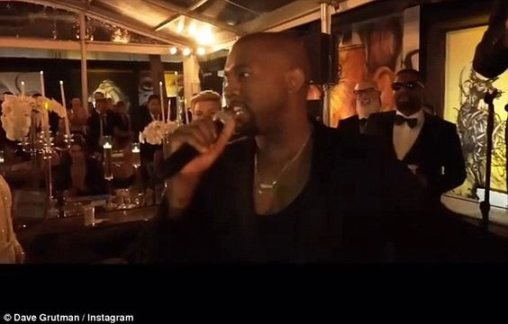 Here he goes again: Kanye West interrupted a speech at Dave Grutman's Miami wedding on Saturda in a repeat of what he did to Taylor Swift