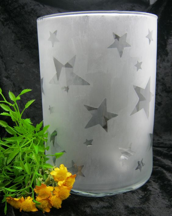 etched glass- neighbor gift idea!