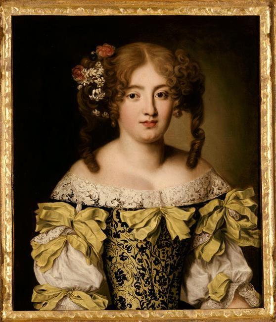 Portrait de Maria Ortensia Biscia Del Drago attributed to Jacob Ferdinant Voet, 17th century, Musee des Beaux-Arts