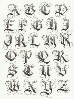 gothic capitals