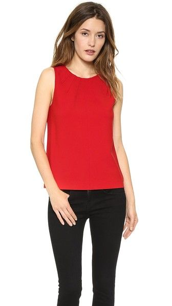 DIANE VON FURSTENBERG Sleeveless Shell Top. #dianevonfurstenberg #cloth #top #shirt
