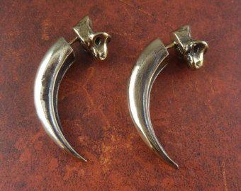 Silver Eagle Talon Earrings 003 by mrd74 on Etsy