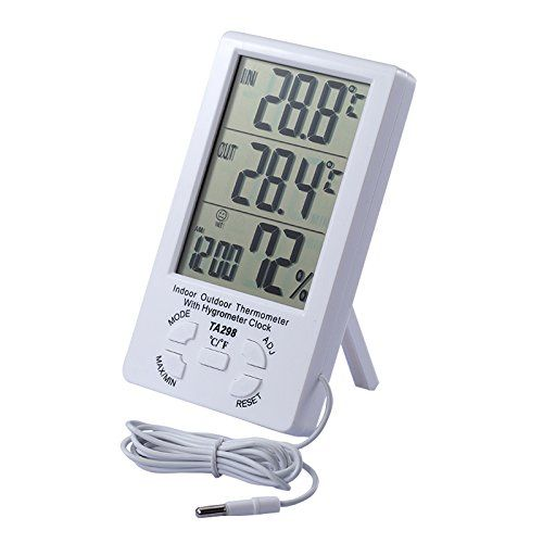 Wireless Digital Outdoor Thermometer Remote Sensor Transmits Weather Resists New