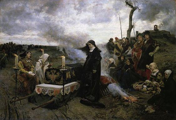Cecilio Pizarro (1822-1886).  Juana la Loca velando el cadáver de Felipe el Hermoso - 1877