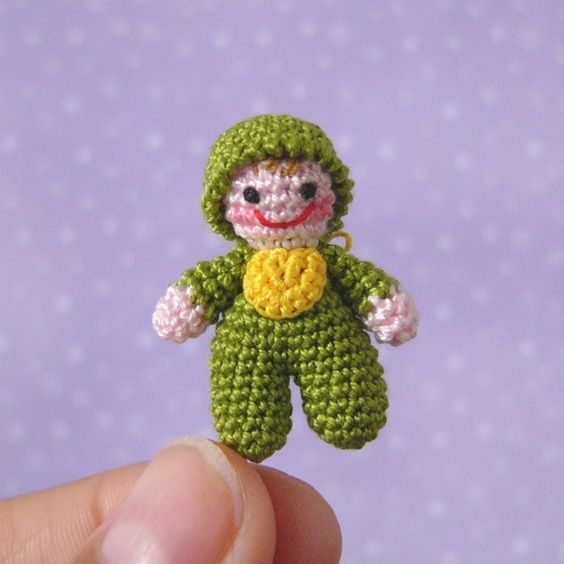 Crochet Mini Doll Pattern : PDF PATTERN - Amigurumi Micro Crochet Tutorial Pattern ...