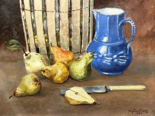 Luc Albert Percheron. Still Life with Pears, 1942