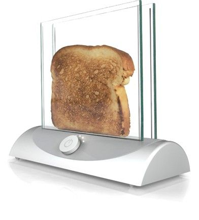 Transparent Toaster by design company Inventables ~ Currently just a concept. Toasts bread as the glass heats up / Gizmodo