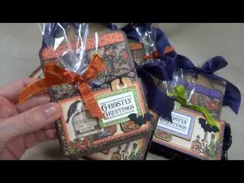 Halloween Treat Holder Tags and The Groove Tool - YouTube