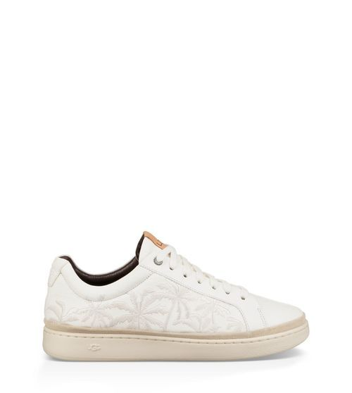 UGG Men's Cali Sneaker Low Palms Leather In White, Size 8 ...