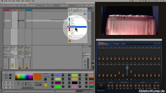 Nice one from AbletonKurse! Control DMX lights and colors with #Ableton Live & Max for Live