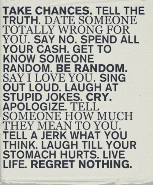Rules for good living.