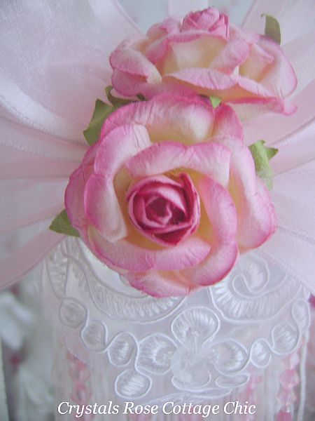 Double Rose Romantic Victorian Ornament