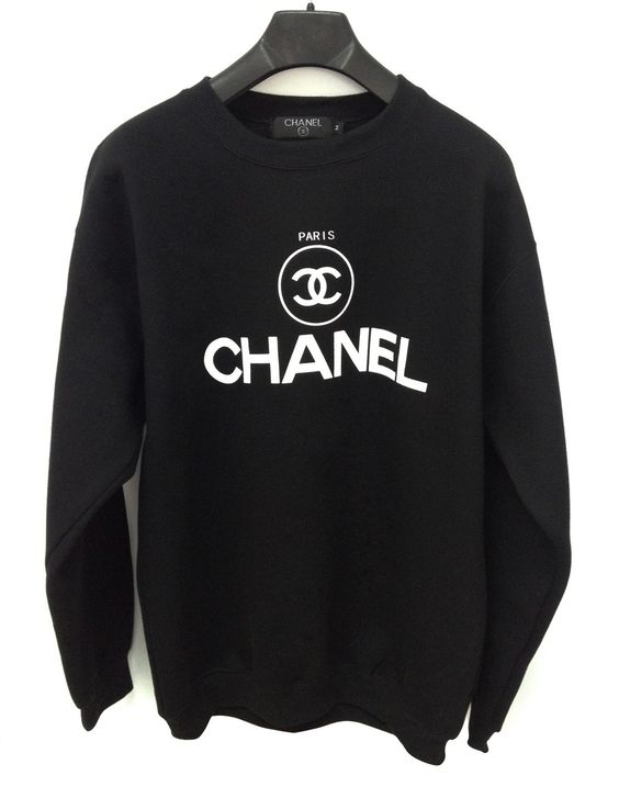 BLACK AND WHITE  chanel sweater. $55.00, via Etsy.