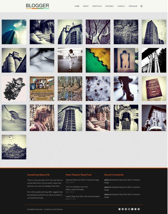 blogger responsive blog folio wordpress theme blog