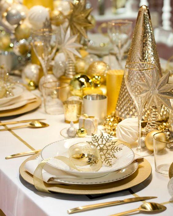 Dorado para la mesa de Navidad