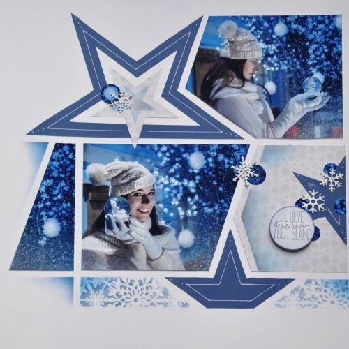 Page de scrap 'Boules de neige' | Scrapbooking azza, Scrapbooking