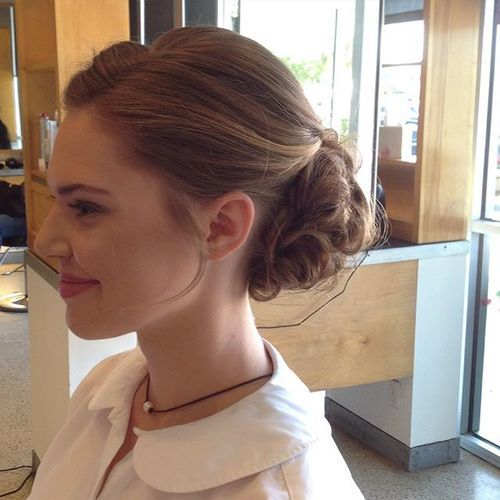 Side view of some beautifully detailed work! #specialoccasionhair #promhair…