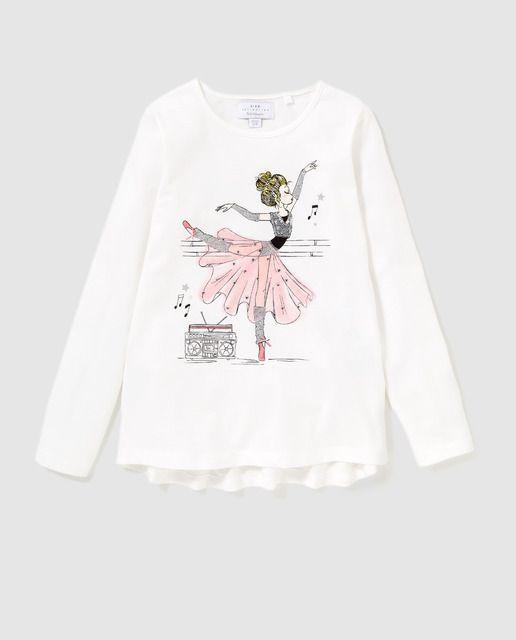 Camiseta En Niña Freestyle Con De BailarinaRopa Blanco 3uJclK5TF1