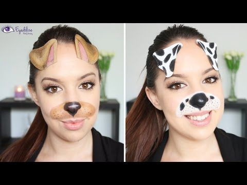 Snapchat in Real Life! Dog Filter Makeup Tutorial by ...