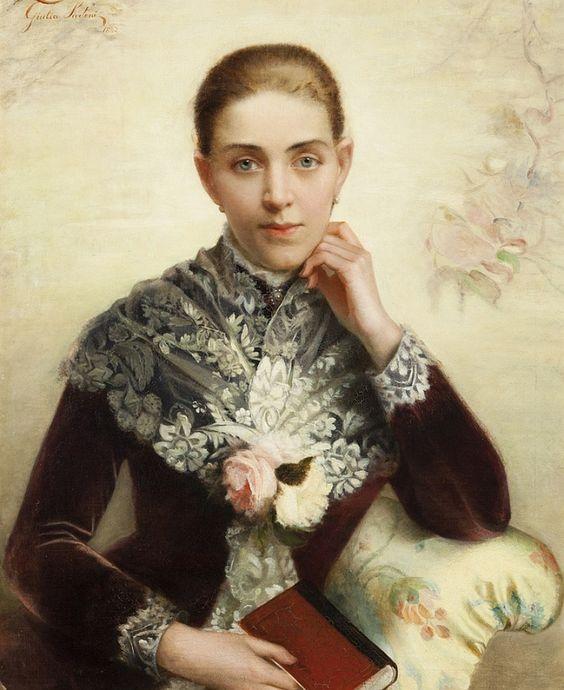 M. Sartoni Italian, 19th Century Portrait of a woman, 1882