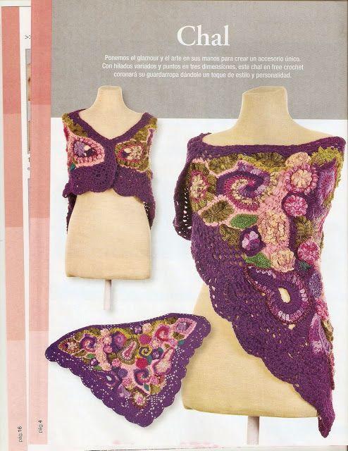 Revistas de crochet y tejidos gratis: Como hacer un chal en crochet