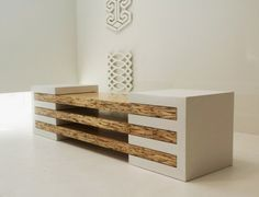 Contemporary Bench in Concrete and Wood Combination