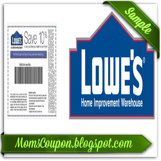 Lowes printable coupon 10 percent off 2015