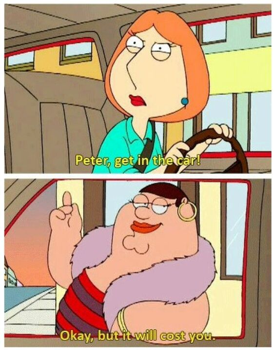 """What do you want a Cleveland steamer?"" Hahahaha family guy is the best."