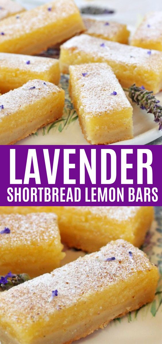 Lavender Shortbread Lemon Bars