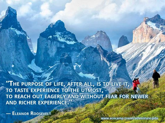 The Purpose Of Life After All Is To Live It To Taste