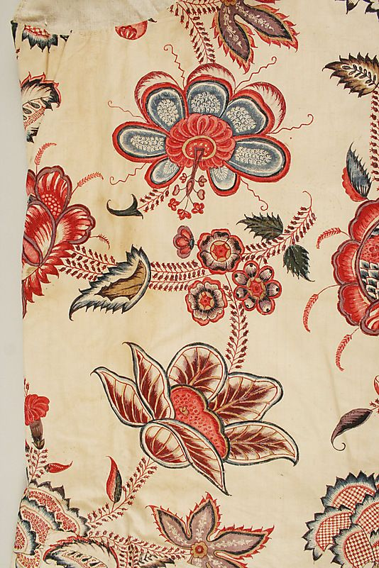 Waistcoat  Date: 1770–90 Culture: French Medium: cotton: