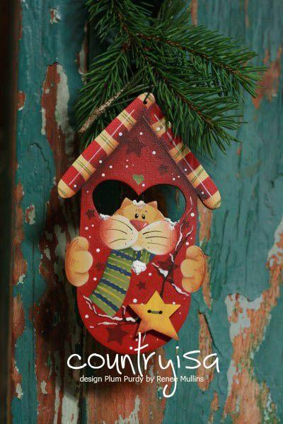 Ornament painted by me desgin Reneè Mullins