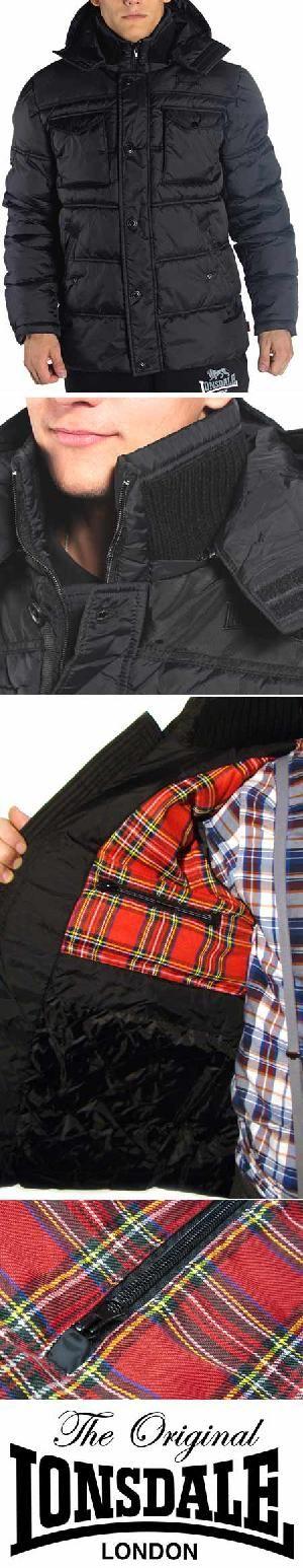 Ref. Lonsdale 413 - Chaqueta con capucha invierno y tela escocesa. Pedidos (Worldwide Orders): www.barrio-obrero.com
