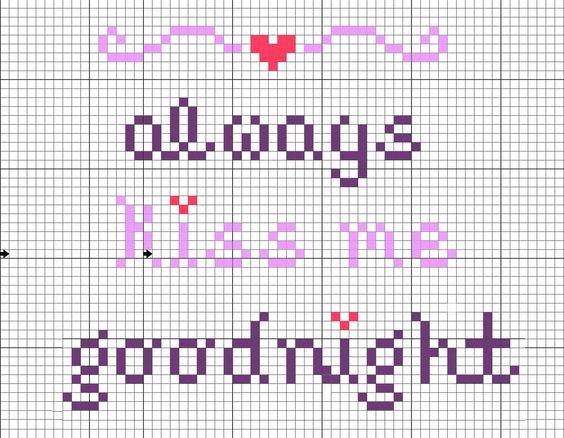 Crochet Kiss Stitch : ... ross stitch patterns Pinterest Cross stitch, Stitches and Kiss