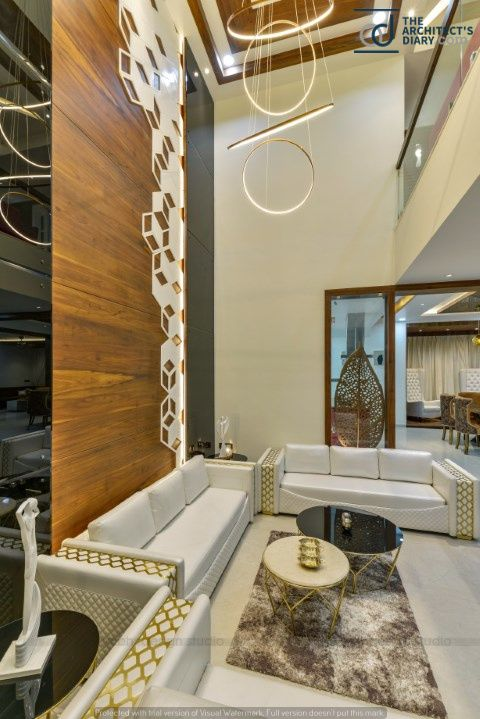 Contemporary Indian House In Indore Indian Homes Ceiling Design
