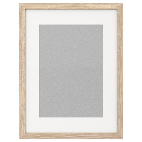 RIBBA Frame - white stained oak effect - IKEA - to fit A3-size art - k amp uuml che aus paletten
