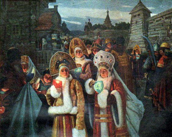 Эшкичевич Василий Константинович (Россия, 1877 - ?) «Великий четверг в старину»