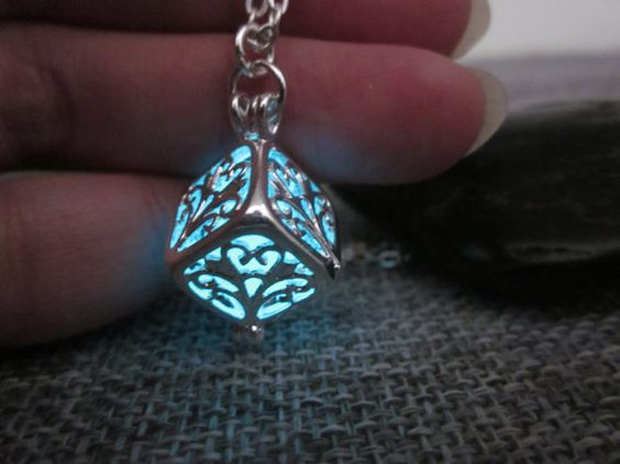 Glow In The Dark NecklaceHollow Tree of Life Cube by cloudbb
