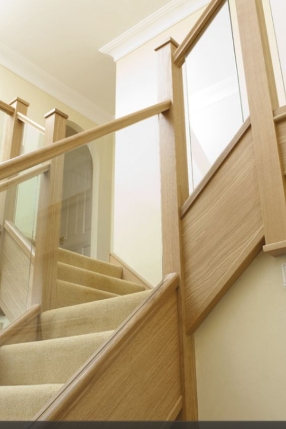 oak glass staircase bespoke glass staircase