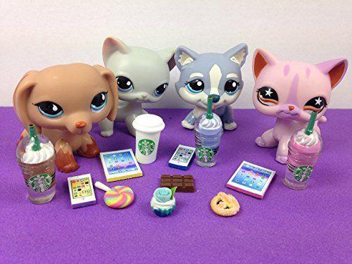 2 Phones PET NOT INCLUDED LPS Littlest Pet Shop 4 Accessories Lot Set 2 Tablets