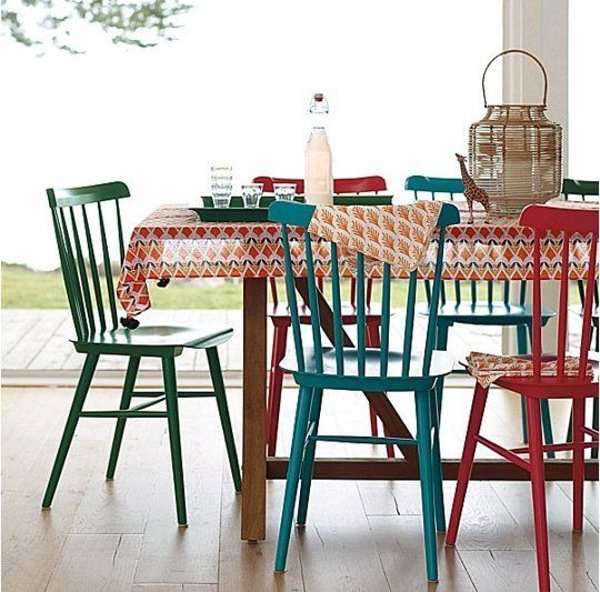 Tucker Chair from Serena & Lily • $188   A simple, wood side chair in a nice assortment of colors. This is a fun find to dress up your table for the upcoming holiday season. Made of solid beechwood and coming in 10 colors.