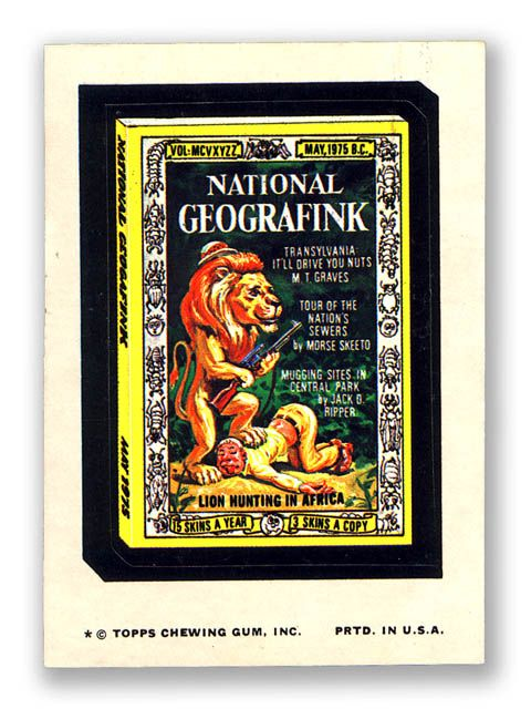 Topps Wacky Packages 11th Series 1974 NATIONAL