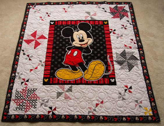 Mickey Mouse Quilt Shannon Minky Backing Ready to by SewStephWA
