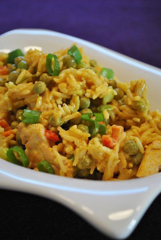 Küchenzaubereien: Curry-Reissalat mit gebratenem Huhn