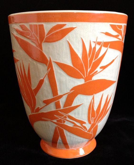 C.B.Bacon - scrafitto vase