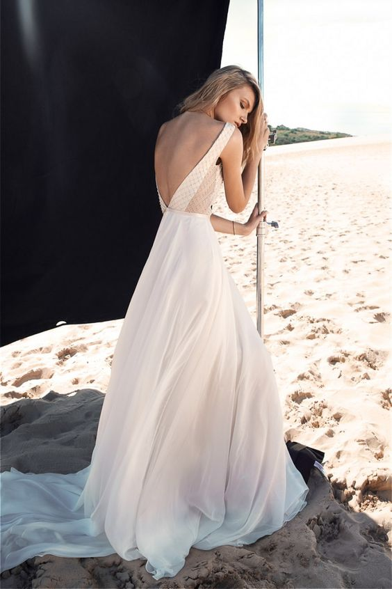 low-back wedding dress by One Day Bridal - Blessed are the Curious: