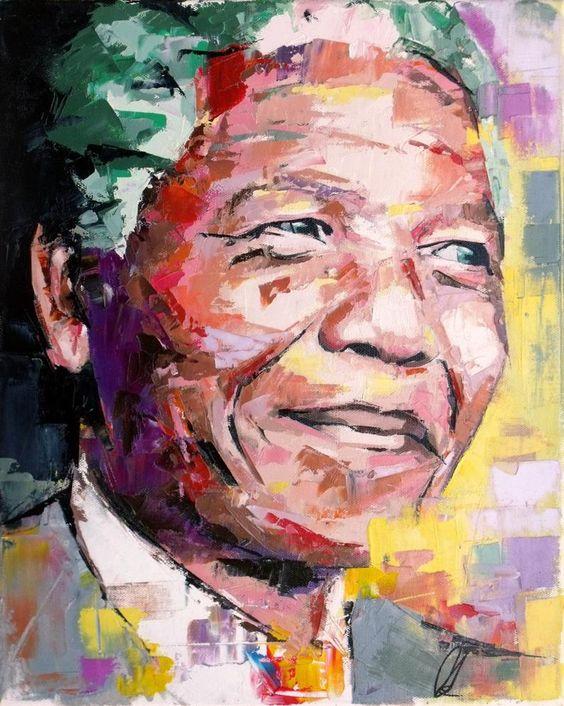 Nelson Mandela Large Original Painting 30 40   Etsy